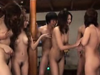 Korean amateur swingers fastening 4