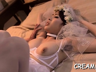 Wicked bitch likes rub-down the feel be worthwhile for devoted cum in her cunt