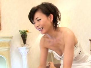 Japanese gorgeous chick plays vigorously