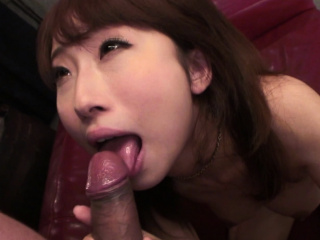 Japanese chick, Yui Misaki sucks dick, well-built