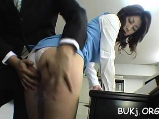 Astonishing busty eastern beauty Mariko Shiraishi fucked tramp